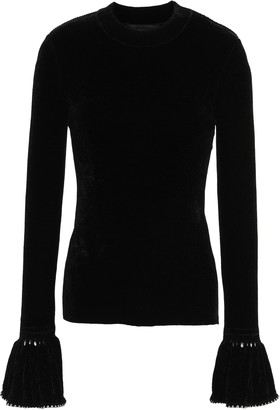Alexander Wang Studded Ribbed-knit Sweater