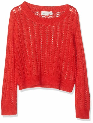 Name It Girl's Nkflivia Ls Short Knit Jumper