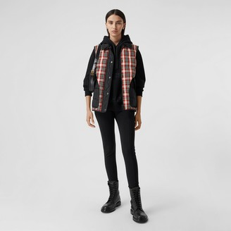 Burberry Diamond Quilted Panel Tartan Puffer Gilet