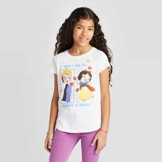 Princess Girls Disney Princess Girls' Queen vs Snow T-Shirt - Off White