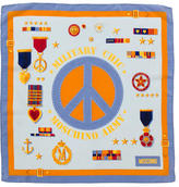 Moschino Peace Army Print Scarf