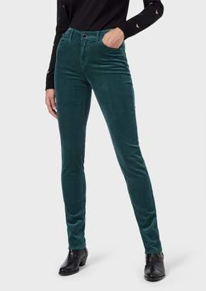 Emporio Armani J18 Super-Skinny Fit Corduroy Trousers