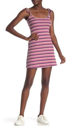 Poof Stripe Print Knit Dress