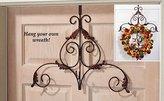 Brilliant Decorative Metal Scroll Holiday Wreath Hanger
