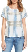 Lucky Brand Women's Metallic Embroidered Top