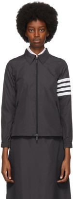 Thom Browne Black Flyweight Tech Gusset 4-Bar Windbreaker