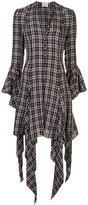 KHAITE Laura checked asymmetrical dress