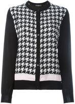 Salvatore Ferragamo houndstooth pattern cardigan