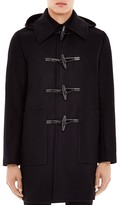 Sandro Wool Cashmere Blend Hooded Duffle Coat