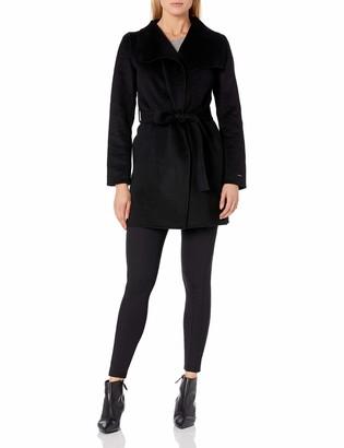 T Tahari Women's Double Face Wrap Coat