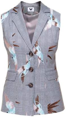 Diana Arno Evelyn Tailored Vest With Bird Embroidery