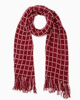 Charming charlie Sparkling Crochet Fringe Scarf