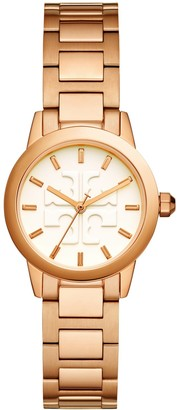 Tory Burch Gigi Watch, Rose Gold/Ivory, 28 Mm
