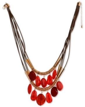 """Style&Co. Style & Co Shaky Bead Double-Row Statement Necklace, 21-1/2"""" + 3"""" extender, Created for Macy's"""