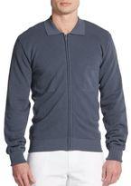 Dolce & Gabbana Cotton Zip-Front Cardigan