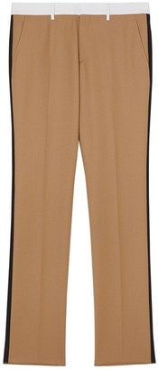 Burberry Classic Fit Side Stripe Wool Tailored Trousers