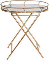 Privilege Gold Oval Tray Table
