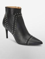 Calvin Klein Grazia Leather Heel Bootie