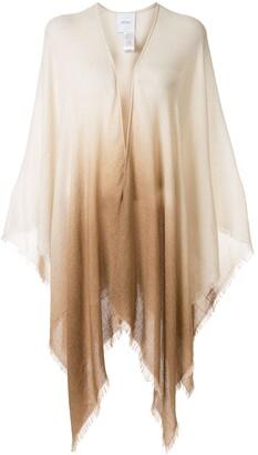 Agnona Ombre Shawl Cardigan Coat