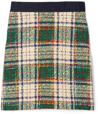Tory Burch Tartan Tweed Skirt