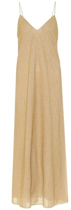 Oseree Lumiere metallic maxi dress