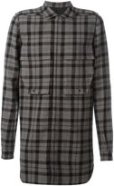 Rick Owens plaid flannel shirt