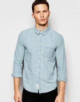 NATIVE YOUTH Tape Down Denim Long Sleeved Shirt