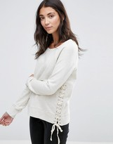 Pam & Gela Lace Up Sweatshirt