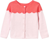 Lili Gaufrette Pink and Coral Scalloped Pattern Cardigan