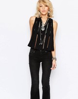 Free People Dandy Button Front Top