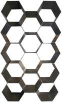 Noir Bee Hive Geometric Bookcase