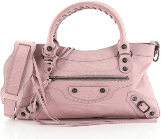 Balenciaga First Classic Studs Bag Lizard Embossed Leather