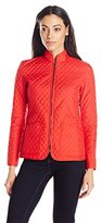 Anne Klein Women's Quilted Zipper Jacket