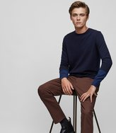 Reiss Reiss Melville - Tonal Stripe Jumper In Blue, Mens