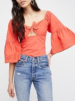Free People Leona Embroidered Blouse