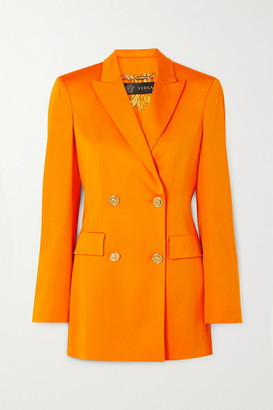 Versace Double-breasted Cady Blazer - Orange