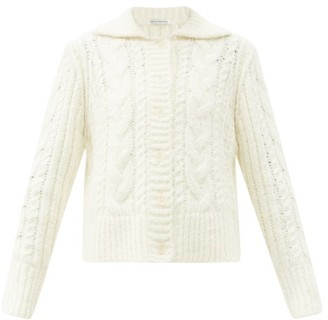 Cecilie Bahnsen Frances Hand-knitted Silk Cardigan - White
