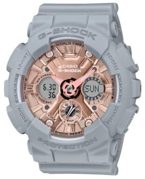 G-Shock Women's Analog-Digital Gray Resin Strap Watch 45.9mm