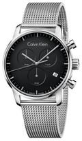 Calvin Klein City Chrono Gent Polished Ss Mesh Bracelet, Black Dial