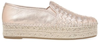 Sam Edelman Catherine Metallic Leather Platform Espadrilles