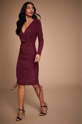 Lipsy Ruched Multiway Dress - 6 - Purple
