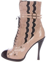 Tabitha Simmons Cap-Toe Ankle Boots