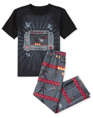The Children's Place The Childrens Place Boys 4-16 Short Sleeve Ninja Video Game 2-Piece Pajama Pant Set