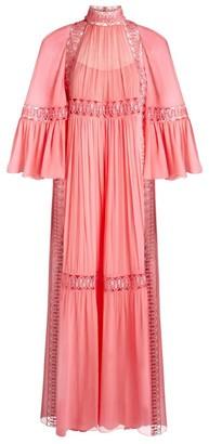 Alberta Ferretti Silk Chiffon Maxi Dress