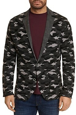 Robert Graham Knit Camouflage Classic Fit Cardigan
