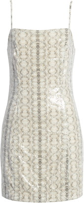 Endless Rose Python Sequin Sleeveless Body-Con Dress