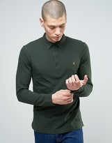 Farah Lester Logo Long Sleeve Polo Shirt