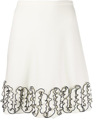 See by Chloe Ruffled Knee-Length Skirt