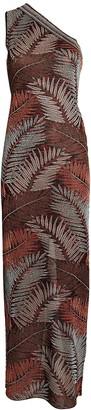 Missoni Palm Knit Jacquard One-Shoulder Dress
