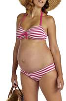 Pez D'or Women's 'Rimini' Textured Stripe Maternity Bikini